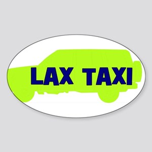 Lax Taxi Green Oval Sticker