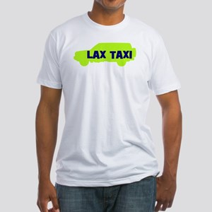 Lax Taxi Green Fitted T-Shirt