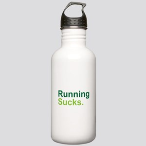 Running Sucks Green Water Bottle