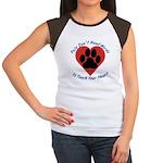 Touch Your Heart Women's Cap Sleeve T-Shirt