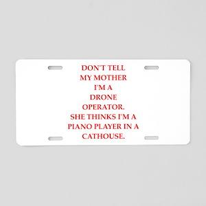 drone Aluminum License Plate