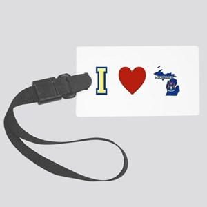 I Love Michigan Large Luggage Tag