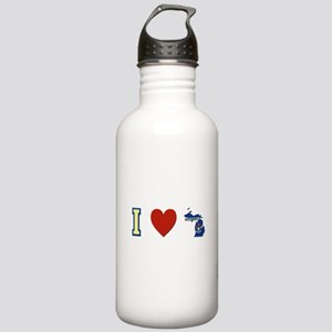 I Love Michigan Stainless Water Bottle 1.0L