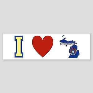 I Love Michigan Sticker (Bumper)