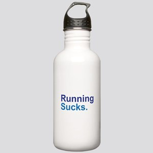 Running Sucks Blue Water Bottle