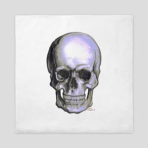 Skull on light background Queen Duvet