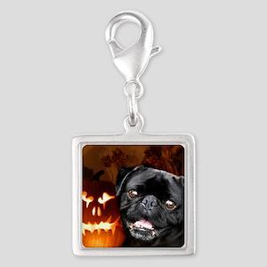Halloween pug square Charms