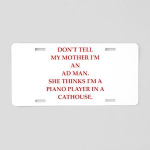 ad man Aluminum License Plate