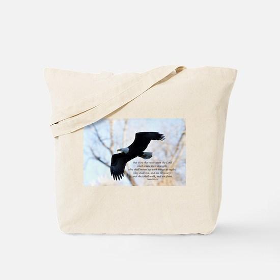 Isaiah 40:31 Eagle Soaring Tote Bag