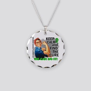 Rosie Keep Calm NH Lymphoma Necklace Circle Charm