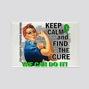 Rosie Keep Calm NH Lymphoma Rectangle Magnet