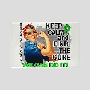 Rosie Keep Calm NH Lymphoma Rectangle Magnet