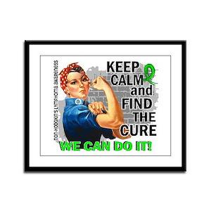 Rosie Keep Calm NH Lymphoma Framed Panel Print