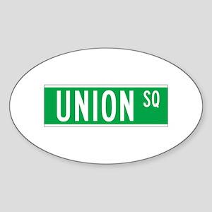 Union Sq., New York - USA Oval Sticker
