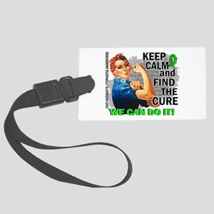 Rosie Keep Calm NH Lymphoma Large Luggage Tag