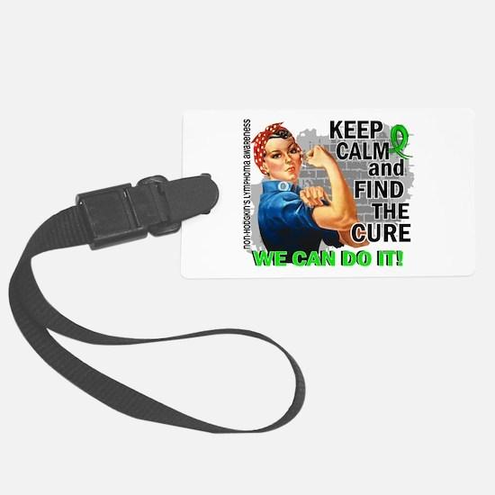 Rosie Keep Calm NH Lymphoma Luggage Tag