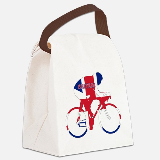 Britain Cycling Canvas Lunch Bag