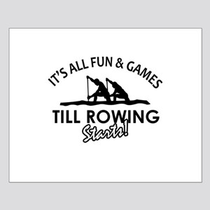 Rowing enthusiast designs Small Poster