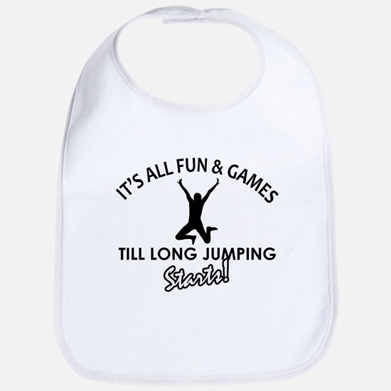 Long Jump enthusiast designs Bib
