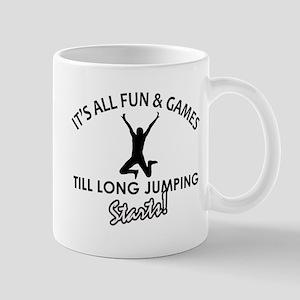 Long Jump enthusiast designs Mug