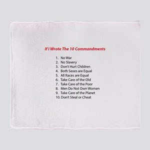 If I wrote 10 commandments Throw Blanket