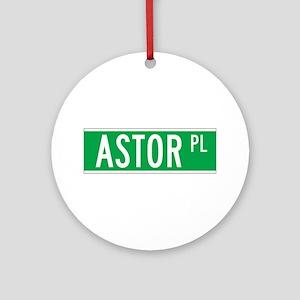 Astor Place, New York - USA Ornament (Round)