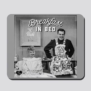 Lucy Ricky Breakfast In Bed Mousepad