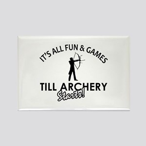 Archery enthusiast designs Rectangle Magnet