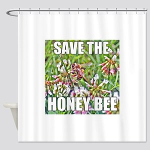 Save the honey bee Shower Curtain