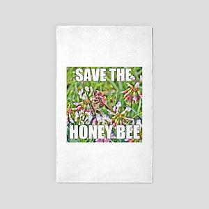 Save the honey bee Area Rug