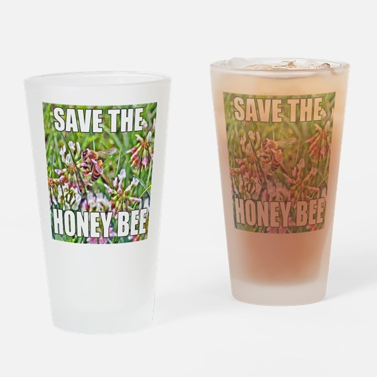 Save the honey bee Drinking Glass