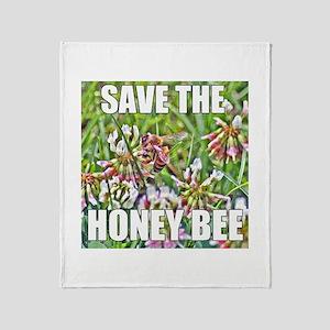 Save the honey bee Throw Blanket