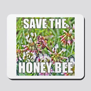 Save the honey bee Mousepad