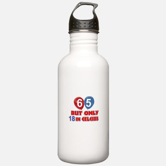 65 year old designs Water Bottle