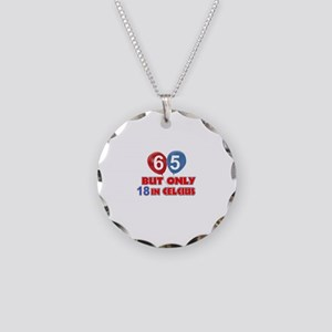 65 year old designs Necklace Circle Charm
