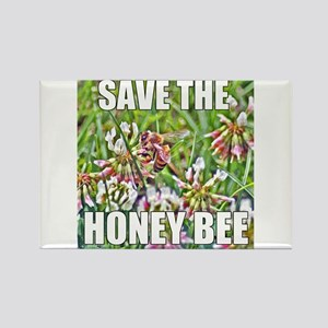 Save the honey bee Rectangle Magnet