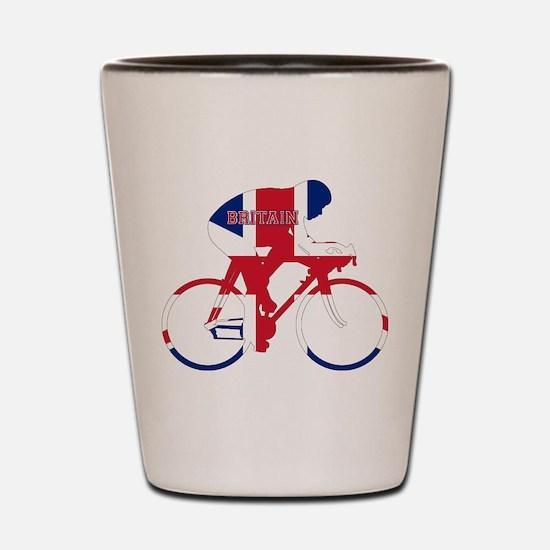 Britain Cycling Shot Glass