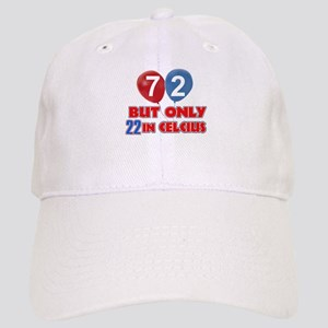 8c89e920ee772 72 72 Birthday 72nd 72nd Birthday Designs Home Outdoor Hats - CafePress