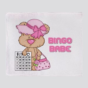 BINGO BABE Throw Blanket