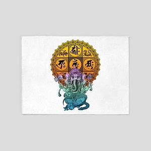 Ganesha Diamond Realm 5'x7'Area Rug