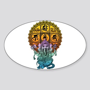 Ganesha Diamond Realm Sticker (Oval)