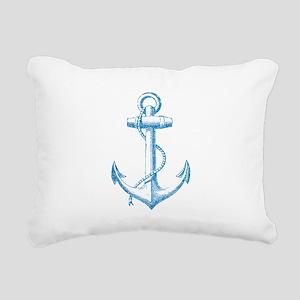 Glitter Anchor Rectangular Canvas Pillow