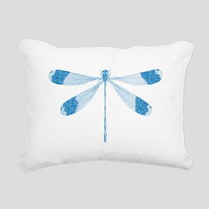 Glitter Dragonfly Rectangular Canvas Pillow