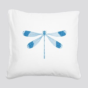 Glitter Dragonfly Square Canvas Pillow