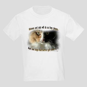 Women and Cats Kids Light T-Shirt