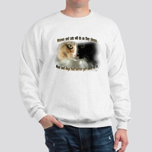 Women and Cats Sweatshirt