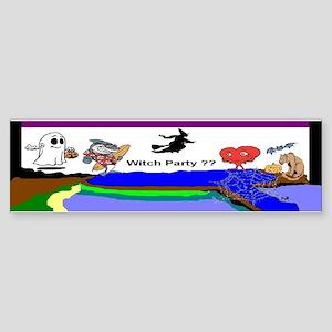 Halloween Witch Party Bumper Sticker
