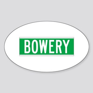 Bowery, New York - USA Oval Sticker