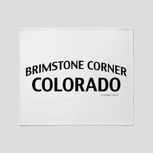 Brimstone Corner Colorado Throw Blanket