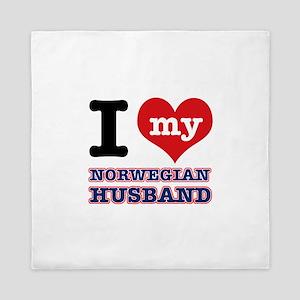 I love my Norwegian Husband Queen Duvet